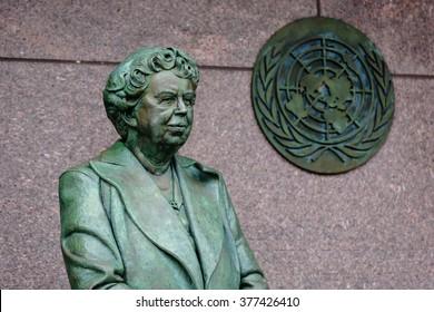 WASHINGTON DC, USA - JANUARY 7th : Eleanor Roosevelt at the Roosevelt Memorial on January 7th,2009 in Washington DC USA.