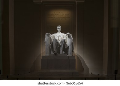 Washington, D.C., USA - January 9, 2016: The Lincoln Memorial is an American national monument built to honor the 16th President of the United States, Abraham Lincoln.