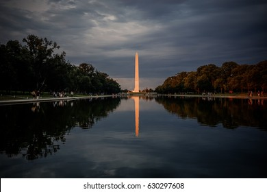 Washington DC, USA - July 10, 2014 : national park in downtown Washington DC,  located between Independence and Constitution Avenues from the Capitol to the Lincoln Memorial.