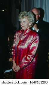 Washington, DC. USA, July 2, 1991  Dr. Lynn Cheney arrives at the White House to attend the State dinner for President Roh Tae Woo of South Korea. Her husband Dick Cheney is seen behind her.