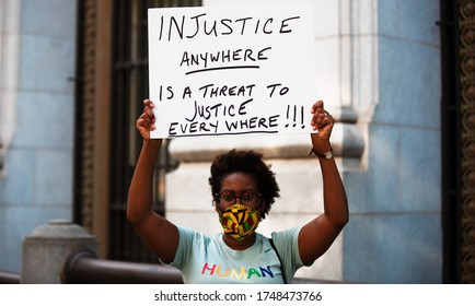 Washington D.C. / USA - Jun 2, 2020: Justice for George Floyd Protest Lafeyette Square, White House
