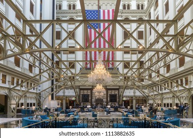 Washington, DC / USA - June 15, 2018: The Trump International Hotel in Washington, DC has allegedly become the go-to hotel for guests trying to impress the current administration.