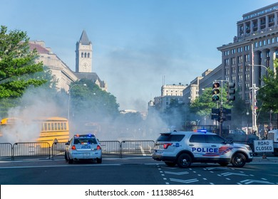 "Washington, DC / USA - June 16, 2018: The sequel to Wonder Woman, tentatively titled ""Wonder Woman 1984,""was shooting scenes in downtown Washington, DC this morning."