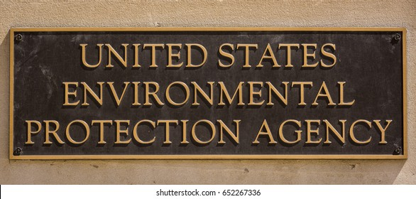 WASHINGTON, DC, USA - JUNE 2, 2017: United States Environmental Protection Agency building sign.