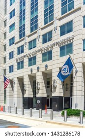 Washington, DC / USA - June 22, 2019: The Trump Administration has announced that US Immigration and Customs Enforcement is mounting a mass deportation of aliens who have already been ordered removed.