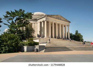 Washington DC, USA - June 25 2018:   Thomas Jefferson Memorial on the National Mall in Washington DC USA