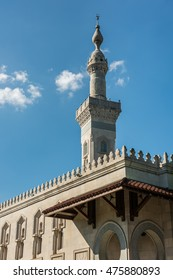 Washington, DC., USA - June 29, 2016: Islamic Center and muslim mosque building with minaret
