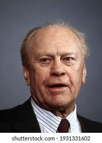 Washington DC, USA, June 3, 1996Former President Gerald R. Ford portrait head shot
