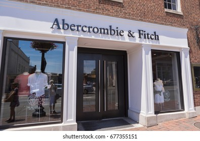WASHINGTON, DC, USA - JUNE 4, 2017: Abercrombie & Fitch retail store front in Georgetown.