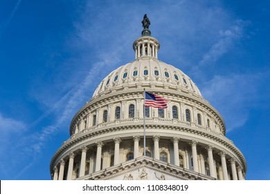 Washington, DC/ USA - June 8, 2018: The United States Senate has cancelled its traditional August recess, and instead will stay in session to pass new bills.