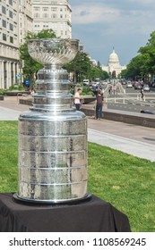 Washington, DC / USA - June 8, 2018: The Washington Capitals won the Stanley Cup and will be bringing it to Washington, DC for celebrations.