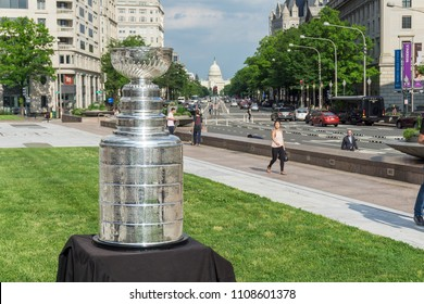 Washington, DC / USA - June 8, 2018: The Washington Capitals won the 2018 Stanley Cup.