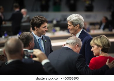 WASHINGTON D.C., USA - Mar 31, 2016: Working moments at the Nuclear Security Summit in Washington. The Nuclear Security Summit is a world summit, aimed at preventing nuclear terrorism around the globe