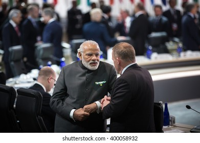 WASHINGTON D.C., USA - Mar 31, 2016: Prime Minister of India Narendra Damodardas Modi at the Nuclear Security Summit which is a world summit, aimed at preventing nuclear terrorism around the globe