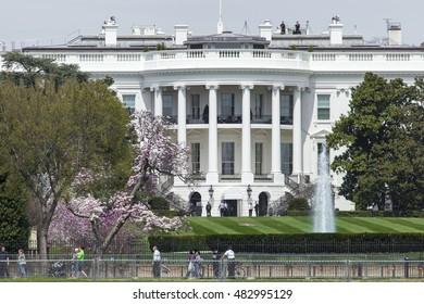 Washington DC - USA - MARCH 12, 2016:The White House on a beautiful summer day, Washington, DC.
