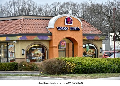 WASHINGTON DC, USA - MARCH 12, 2017: A Taco Bell fast food restaurant location.