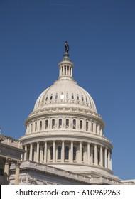 WASHINGTON, DC, USA - MARCH 23, 2017: United States Capitol Dome.