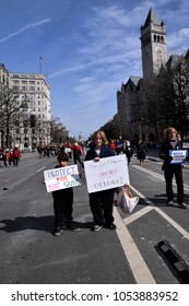 Washington D.C./ USA March 24, 2018: Editorial. Images from the March for our Lives event organized by various groups including students from Marjory Stoneman Douglas High School.