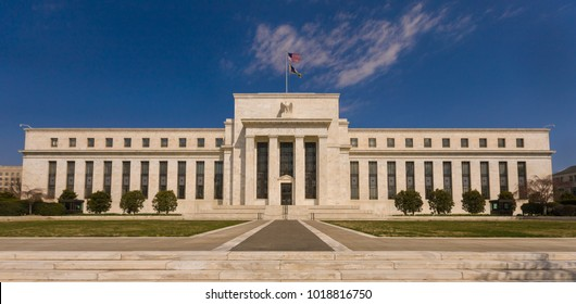 WASHINGTON, DC, USA - MARCH 26, 2008: United States Federal Reserve Bank building on Constitution Avenue.