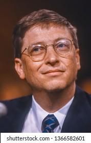 WASHINGTON, DC, USA - MARCH 3, 1998: Bill Gates, CEO Microsoft, testifies before Congress.