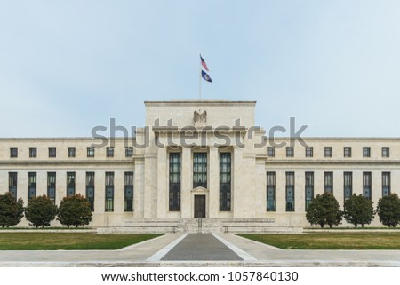 Washington, DC / USA - March 30, 2018: The Federal Reserve is discussing raising interest rates again.