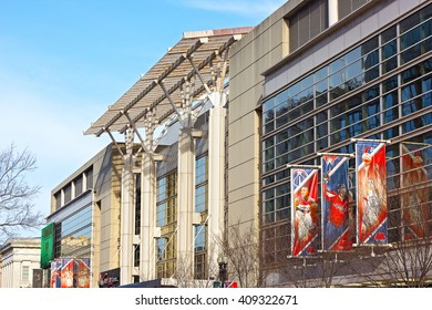WASHINGTON DC, USA - MARCH 31, 2016: The Verizon Center on March 31, 2016. The building is a sport and entertainment arena in US capital serviced many notable events and charity initiatives.