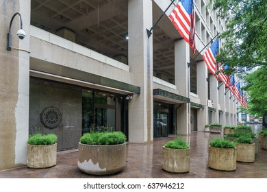 WASHINGTON, DC, USA - MAY 11, 2017: Business carries on at FBI Headquarters in the wake of Director Comey's being fired by President Trump.