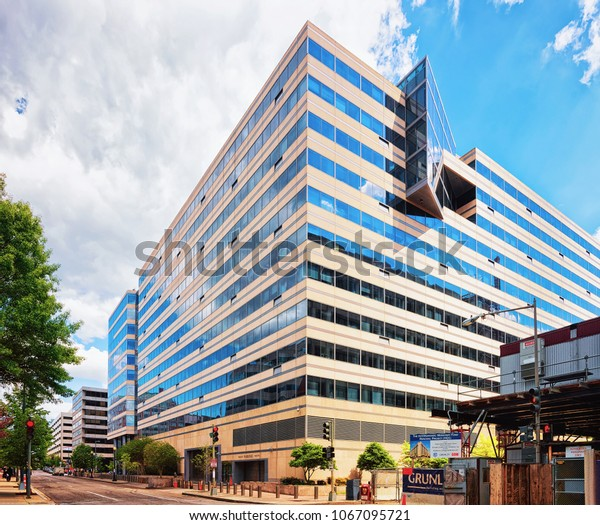 Washington D.C., USA - May 2, 2015: International monetary fund building in Washington, USA. It was renamed after Herbert Hoover who was Secretary of Commerce and later President.