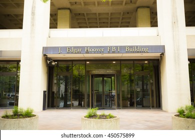 WASHINGTON D.C., USA MAY 2016: J. Edgar Hoover FBI building. Editorial only.