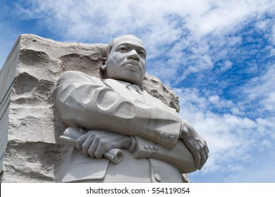 WASHINGTON DC, USA. MAY 2016. Statue in honor of Martin Luther King in Washington DC