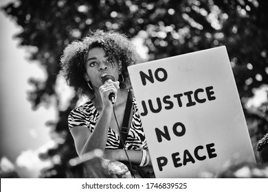Washington D.C. / USA - May 31, 2020: Justice For George Floyd Protest DC
