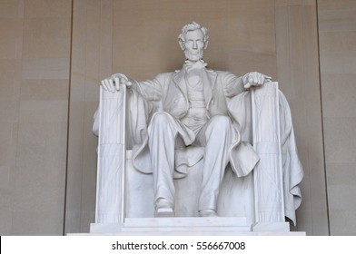 WASHINGTON DC, USA - NOV 13, 2011: Lincoln statue in the Lincoln memorial, Washington DC, USA.It's an American national monument built to honor the 16th President of the United States, Abraham Lincoln