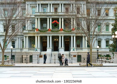 WASHINGTON DC, USA - NOV 24, 2018: Eisenhower Executive Office Building (EEOB)—formerly known as Old Executive Office Building (OEOB)