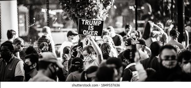 Washington D.C. / U.S.A. - Nov 7, 2020: Biden Wins Over Trump, Presidential Election 2020