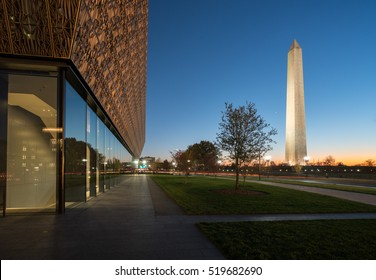 WASHINGTON DC, USA - NOVEMBER 18:  National Museum of African American History and Culture in Washington DC on November 18, 2016. The museum opened on September 24, 2016.