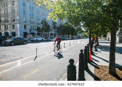 Washington DC, USA - October 19, 2015: Downtown Washington DC, on the autumn street.