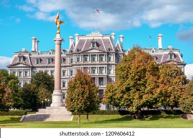 Washington DC, USA - October 20, 2018: Eisenhower Exectutive Office Building in Washington, DC, USA