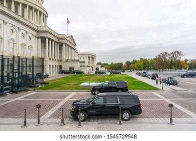 Washington, DC / USA - October 30, 2019: Key witnesses continue to testify before Congress on matters related to the Impeachment inquiry against the President.
