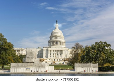 Washington D.C., USA, october 30, 2016: Front view of United States Capitol Building, Washington D.C. , USA
