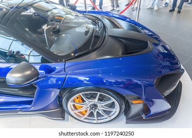 Washington, DC/ USA - October 7, 2018: The McLaren Senna supercar had its Washington, DC debut. It is already sold out and cost over $1 million US Dollars.