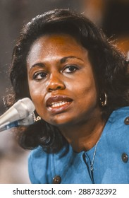 WASHINGTON, DC, USA - Professor Anita Hill testifies before Congress, during Clarence Thomas confirmation hearings for Supreme Court. October 11, 1991
