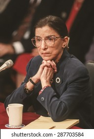 WASHINGTON, DC, USA - Ruth Bader Ginsburg, during confirmation hearings, U. S. Supreme Court. 7/21/1993