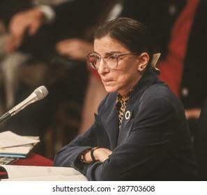 WASHINGTON, DC, USA - Ruth Bader Ginsburg, during confirmation hearings, U. S. Supreme Court. 7/21/1993