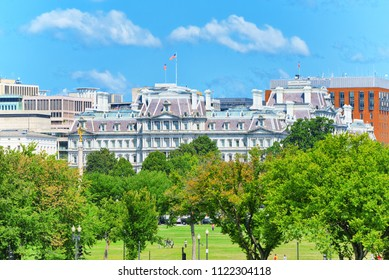 Washington, DC, USA - September 09,2017 : Eisenhower Executive Office Building on Pennsylvania Ave near the White House.