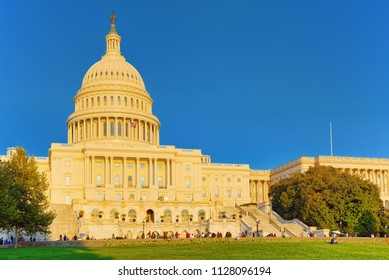 Washington, DC, USA -September 10, 2017 : United States Capitol, Capitol Building,home of the United States Congress, legislative branch of the U.S. federal government.
