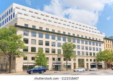 Washington, DC, USA - September 10,2017 : Urban cityscape of Washington, 601 Pennsylvania Ave NW, Credit Union National Association Inc.