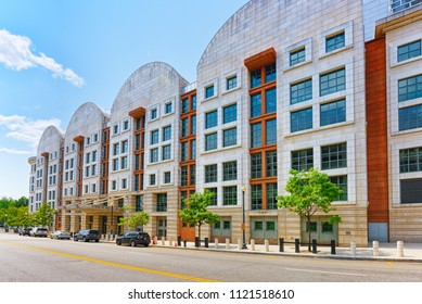 Washington, DC, USA - September 10,2017 : Urban cityscape of the city, US Court-Appeals Clerk's Office, 333 Constitution Ave NW.