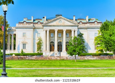 Washington, DC, USA - September 10,2017 : Constitution Hall  and Daughters of the American Revolution Memorial Hall.