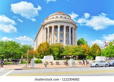 Washington, DC, USA - September 10,2017 : Urban cityscape of Washington, Federal Trade Commission, 600 Pennsylvania Ave NW.
