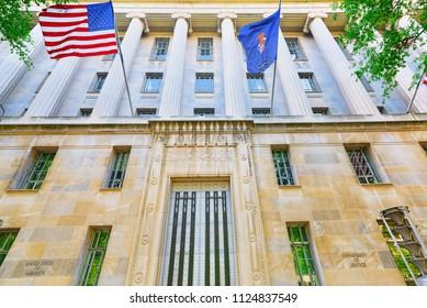 Washington, DC, USA - September 10,2017 : U.S. Department of Justice, 950 Pennsylvania Ave NW.